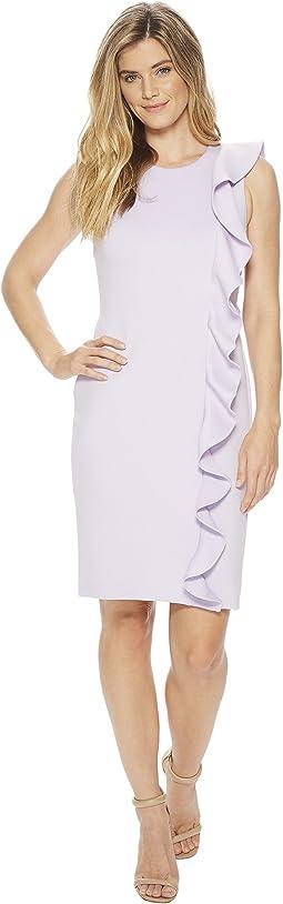 Calvin Klein - Ruffle Scuba Sheath Dress CD8M14KQ