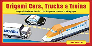 Origami Cars, Trucks & Trains Kit: Kit Includes 2 Origami Books, 27 Fun Projects and 96 High-Quality Origami Papers: Great...