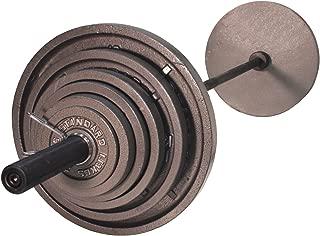 USA Sports Troy Olympic Weight Plates - 500 LB Set Black Bar