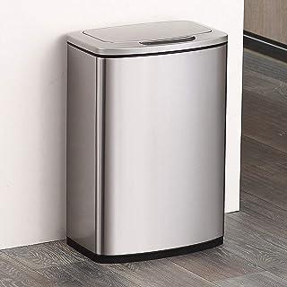 EKO フタ付きゴミ箱 シルバー 47L 1193777