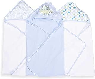 Spasilk Soft Terry Hooded Towel Set, Blue Dino, 26