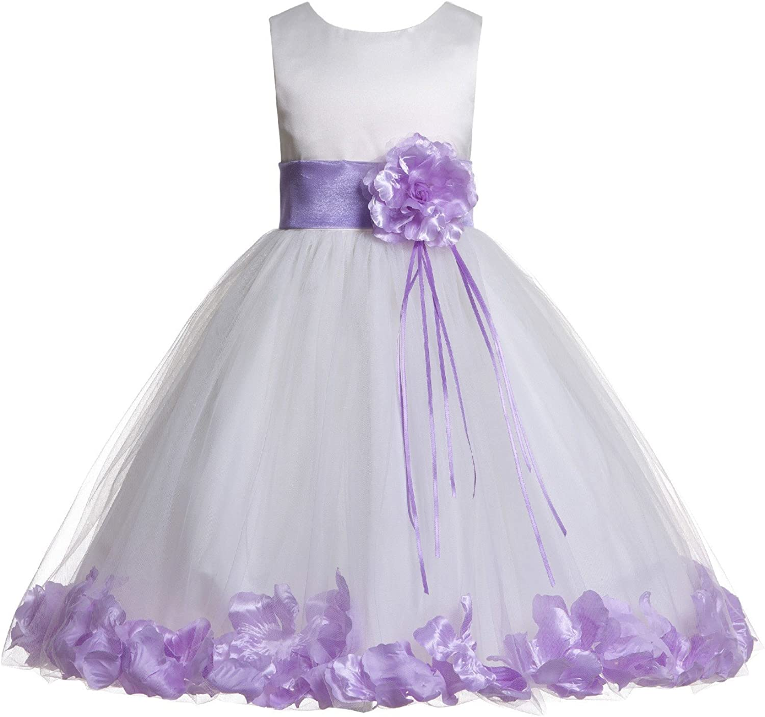 Wedding Pageant A surprise price is realized 67% OFF of fixed price Floral Rose Petals Dress Flower Tulle Girl Ivory