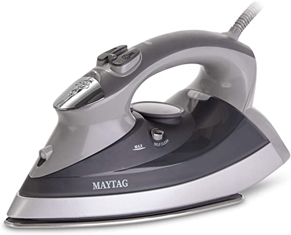 Maytag M400 Speed Heat Steam Iron Vertical Steamer With Stainless Steel Sole Plate Self Cleaning Function Thermostat Dial