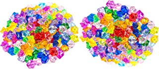 Huji Acrylic Pirate Bulk Colored Jewels Gems Faux Diamond Crystals Treasure for Tables Decorations, Vase Fillers,Wedding or Birthday Decoration, Party Favors for Arts and Crafts (2PK, Assorted)