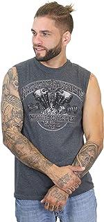 Harley-Davidson Mens Old Knuckle Engine Charcoal Muscle...
