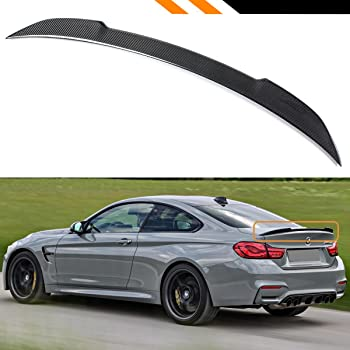 For 2015-2019 BMW F82 M4 PSM Style High Kick Carbon Fiber Trunk Lid Spoiler Wing