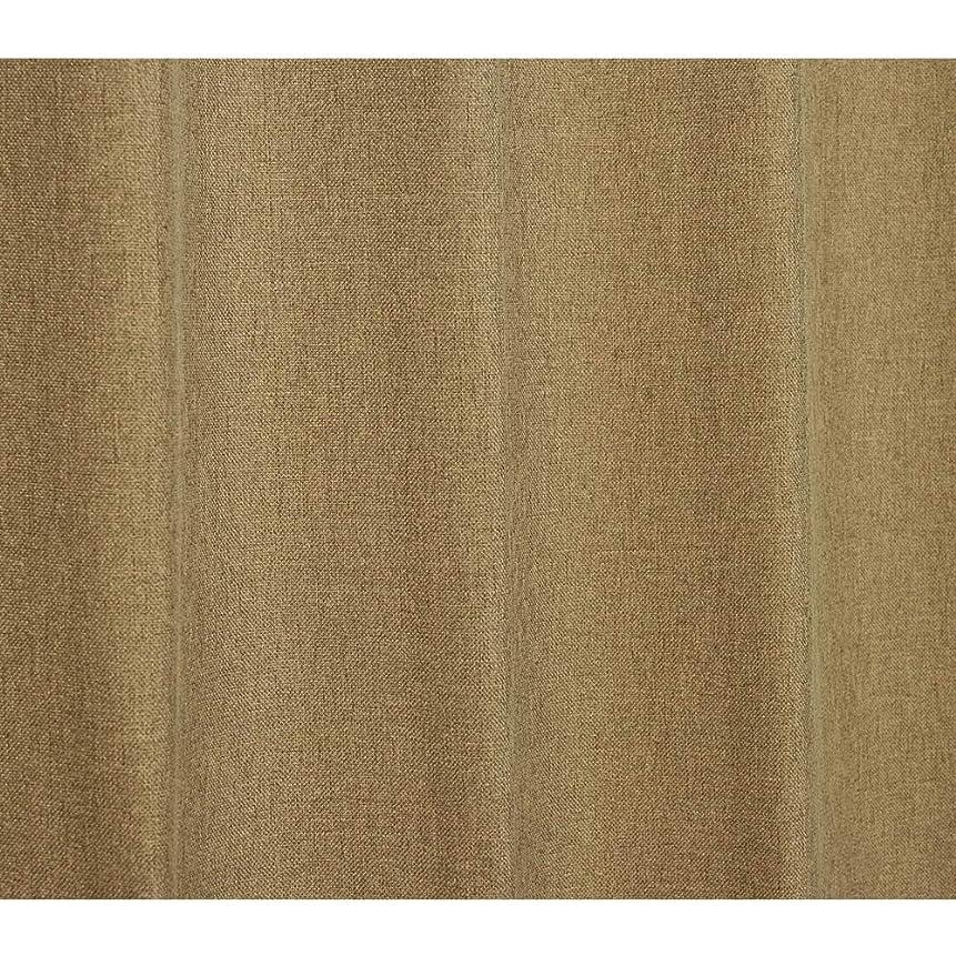 アラブ人インスタンス宿泊施設無地カーテン生地測り売り【2m単位】 ネイチャーカラー 全9色 (ブラウン)