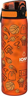 Ion8 Botella Agua, Sin Fugas, Sin BPA, 500 ml, Baloncesto