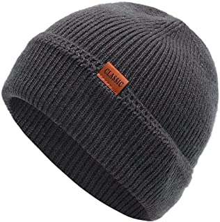 ニット帽 男女兼用ニット帽 オールシーズン 大きめ 柔らかい無地ラインリング 弾力性の良好な秋冬の適当なニット帽子