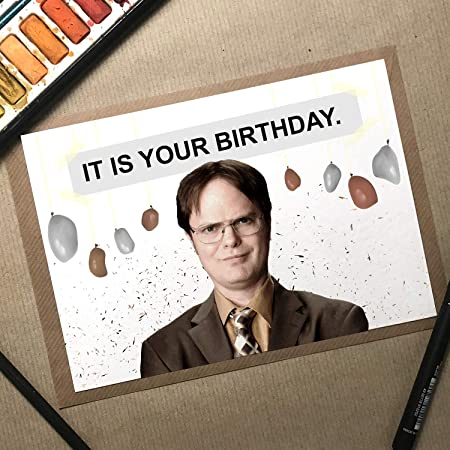 Dwight Schrute For Friends Etc The Office Tv Series Greeting Card Lover Funny Birthday Card The Office Us Who Love The Office Tv Series Family Birthday Card Dwight Schrute With Envelope Office
