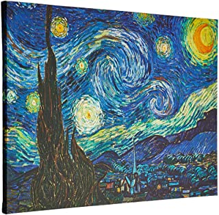Wall Art Starry Night Abstract Canvas Prints Wall Art by Van Gogh Famous Oil Paintings Reproduction ,Modern Gallery, Giclee Canvas Prints Wall Art,Sky Star Pictures Artwork for Living Room Home Office