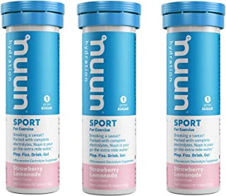 Nuun Active: Strawberry Lemonade Electrolyte Drink Tablets (3 Tubes of 10 Tabs)