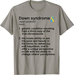 World Down Syndrome Day Costume Funny Definition Trisomie 21 T-Shirt