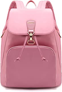 Tzowla Laptop Backpack College School Travel Business Book Doctor Shopping Bag Light Weight Casual Daypack for Women Men Girls Boys Student Fit 14 inch Compter Netbook-M1-Pink