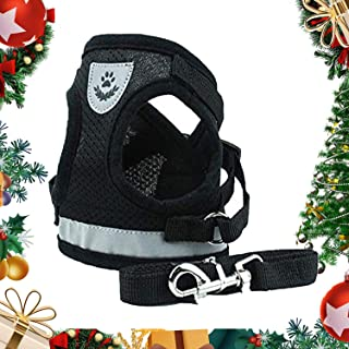 No Pull Dog Harness Reflective Breathable Soft Air Mesh Puppy Choke Free Over Head Vest Ventilation Clip Harness with Hand...