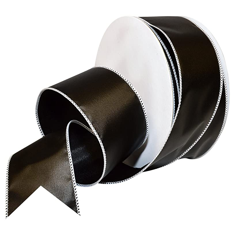 Morex Ribbon Wired Polyester Chalkboard Ribbon, 2-1/2