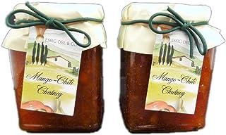 2x Mango Chili Chutney a 300g hervorragend zu Fleisch Fisch Geflügel Rohkost zum Marinieren für die Grillzeit