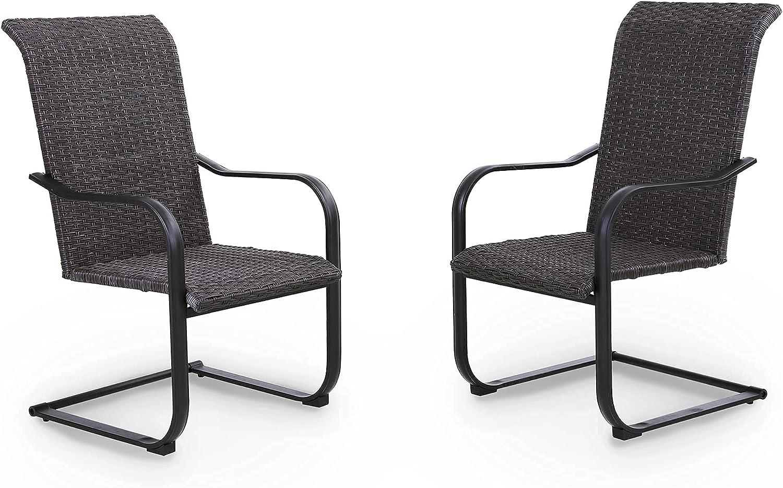 PHI VILLA Outdoor Patio Wicker Chairs San Antonio Mall PCS Bis Back Kansas City Mall 2 High Rattan