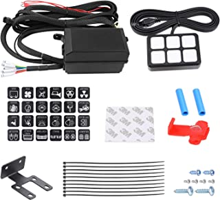 6 Gang Switch Panel Kit, Auto Power Plus Circuit Control Box Relay System Universal ON-OFF Touch Switch Box for Car Marine Boat ATV UTV Truck Jeep