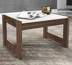 Tecnomobili Coffee Table, White/Walnut, RIV012