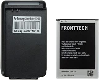 FrontTech 3100mAh OEM Battery+Charger For Samsung Galaxy Note 2 N7100 T889 I605 I317 (1battery+1charger)