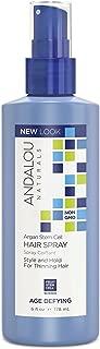 Andalou Naturals Argan Stem Cell Age Defying Hair Spray, 6 Ounce Bottle