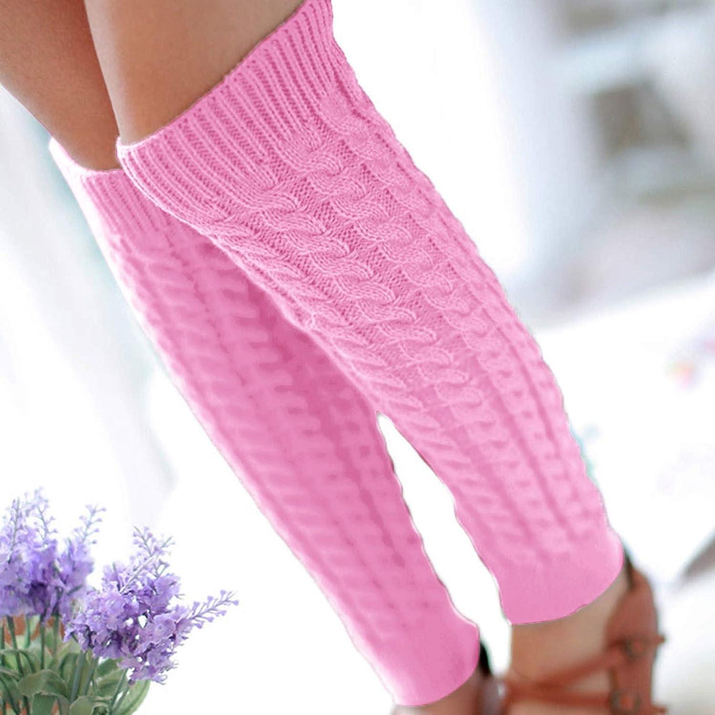 Fashion Women Winter Warm Leg Warmers Knitted Crochet Long SocksThigh Stocking/ Casual/Ankle Socks