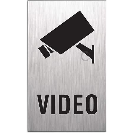 """Aluminium Schild 125 x 125 mm /""""Video überwacht/"""" • Türschild Kamera Überwachung"""