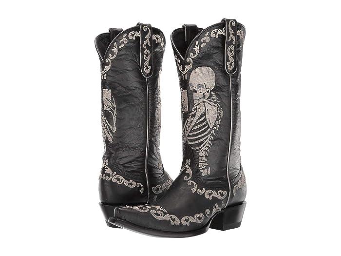 Old Gringo Yippie Ki Yay Selfie Skeleton Boots