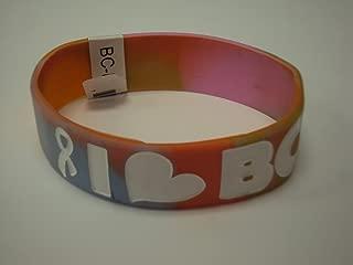 Rubber Wristband I Love Boobies Bracelet Tye Dye & White Writing
