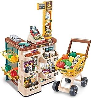 Children 's home Supermarket Toy Shopping Cart cash Register Sets