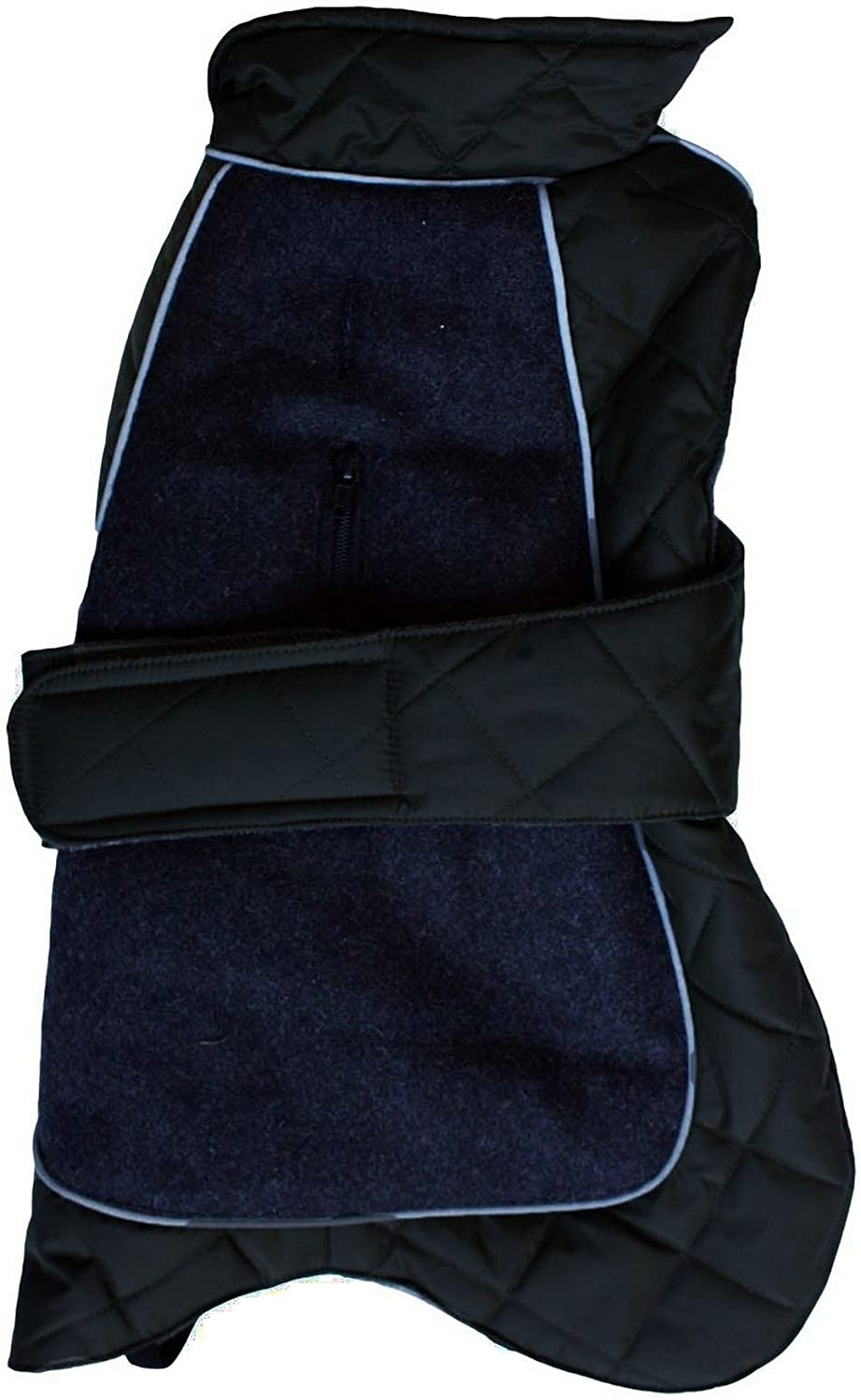 Happy Pet Products Go Walk Quilted Thermal Dog Coat (28in) (Black)