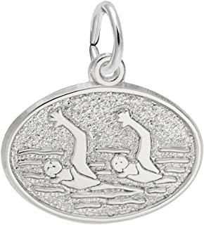 Synchronized Swimming Charm, Charms for Bracelets and Necklaces