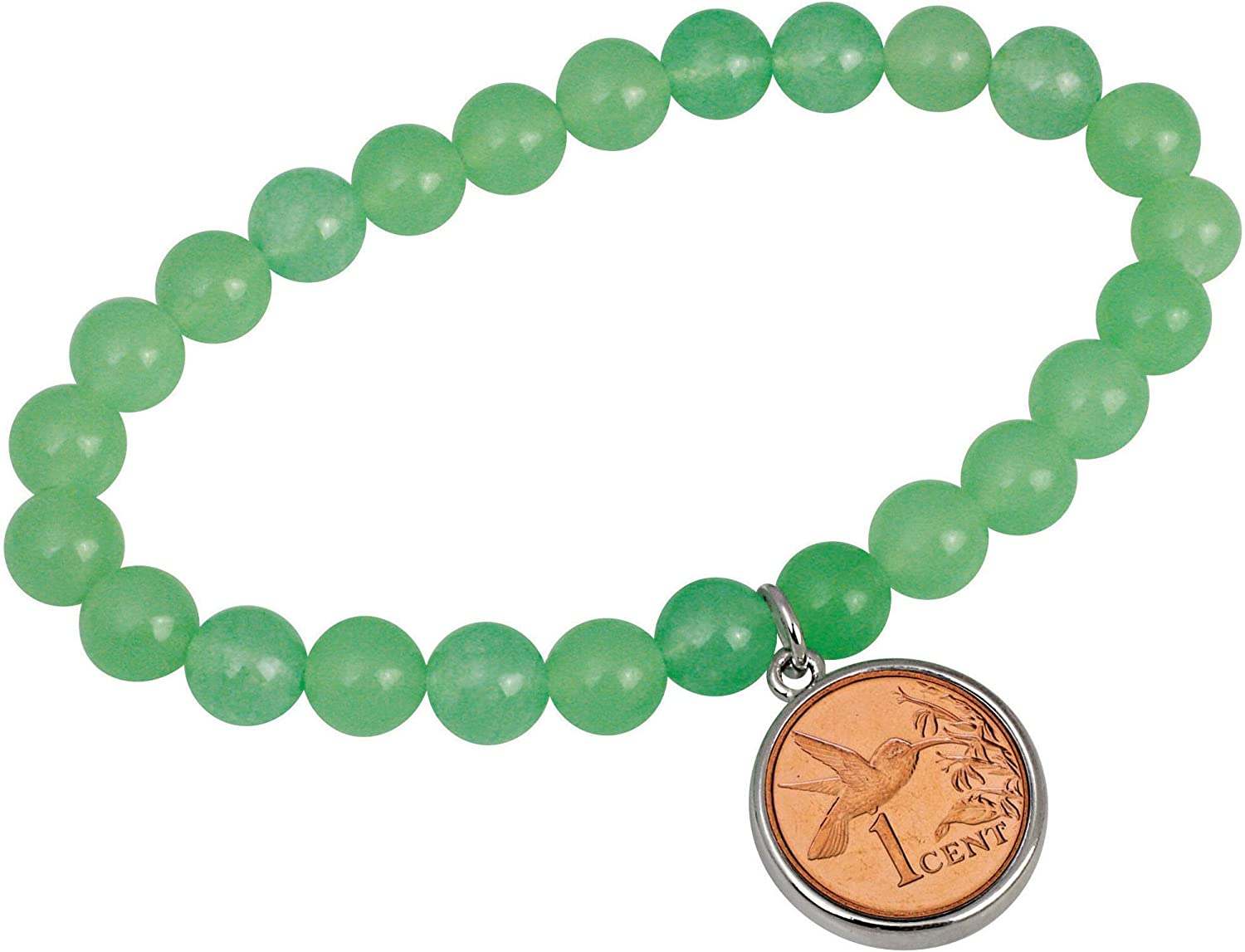 Hummingbird One Cent New products world's highest quality popular Coin trend rank Aventurine Bracelet Stretch