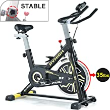 PYHIGH Indoor Cycling Bike Belt Drive Stationary Bicycle Exercise Bikes with LCD..