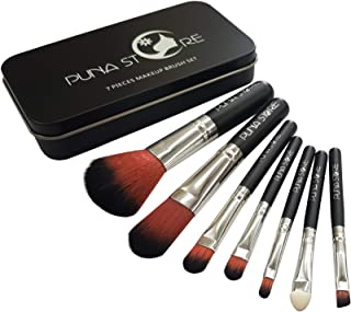 Puna Store® 7 Piece Makeup Brush Set - Black