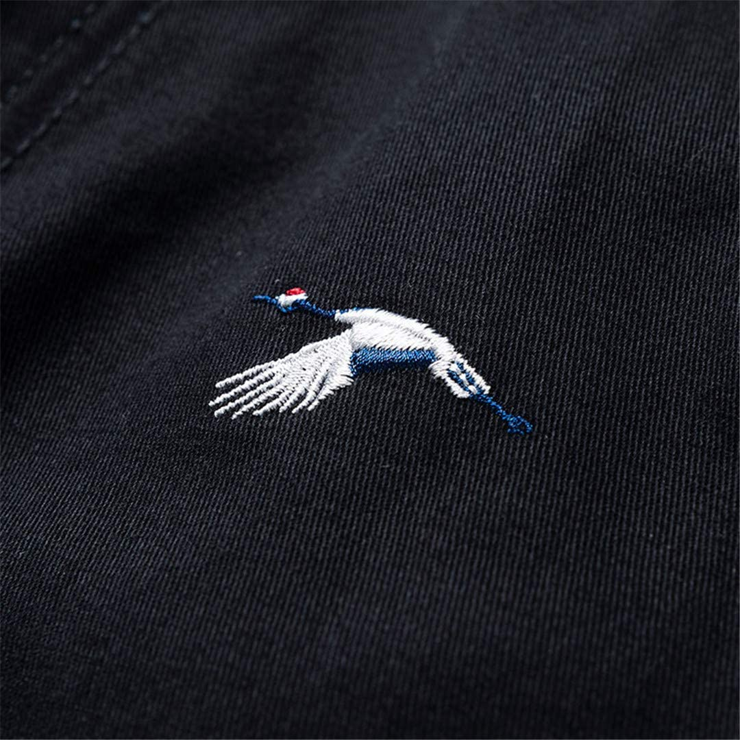 R-Hansets Men Cotton Embroidery Bermuda Military Zipper Pants Baggy Tactical Shorts