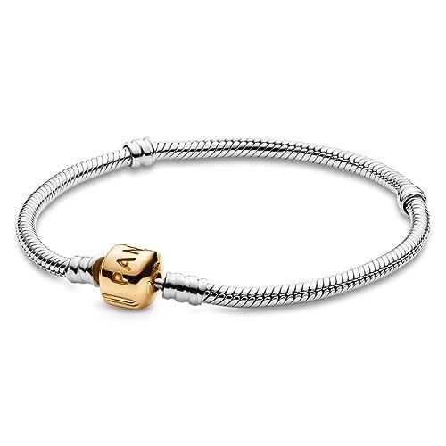 pandora charm bracelet yellow gold