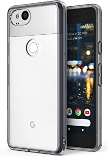 Ringke Fusion Compatible with Google Pixel 2 Case Crystal Clear Minimalist Transparent PC Back TPU Bumper Drop Protection Scratch Resistant Natural Shape Protective Cover Pixel 2 - Smoke Black