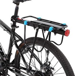 Rack de Carga Ajustável Da Bicicleta Liga de Alumínio Mountain Bike Rack Traseiro Da Bicicleta Pannier Bagageiro Rack