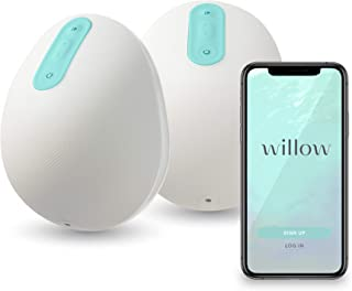 Willow Wearable Breast Pump   Quiet & Hands-Free, Portable, in-Bra Double Electric Breast Pump with App   The Only Pump Th...