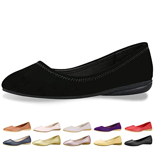 9b64e661f9e9 CINAK Flats Shoes Women– Slip-on Ballet Comfort Walking Classic Round Toe  Shoes