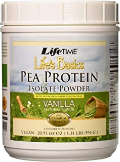Lifetime Life's Basics Pea Protein Powder, Natural Vanilla Flavor 1.2lb