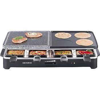 Severin RG 2341 Raclette Party Grill Multifunzione 1500W, colore: Nero