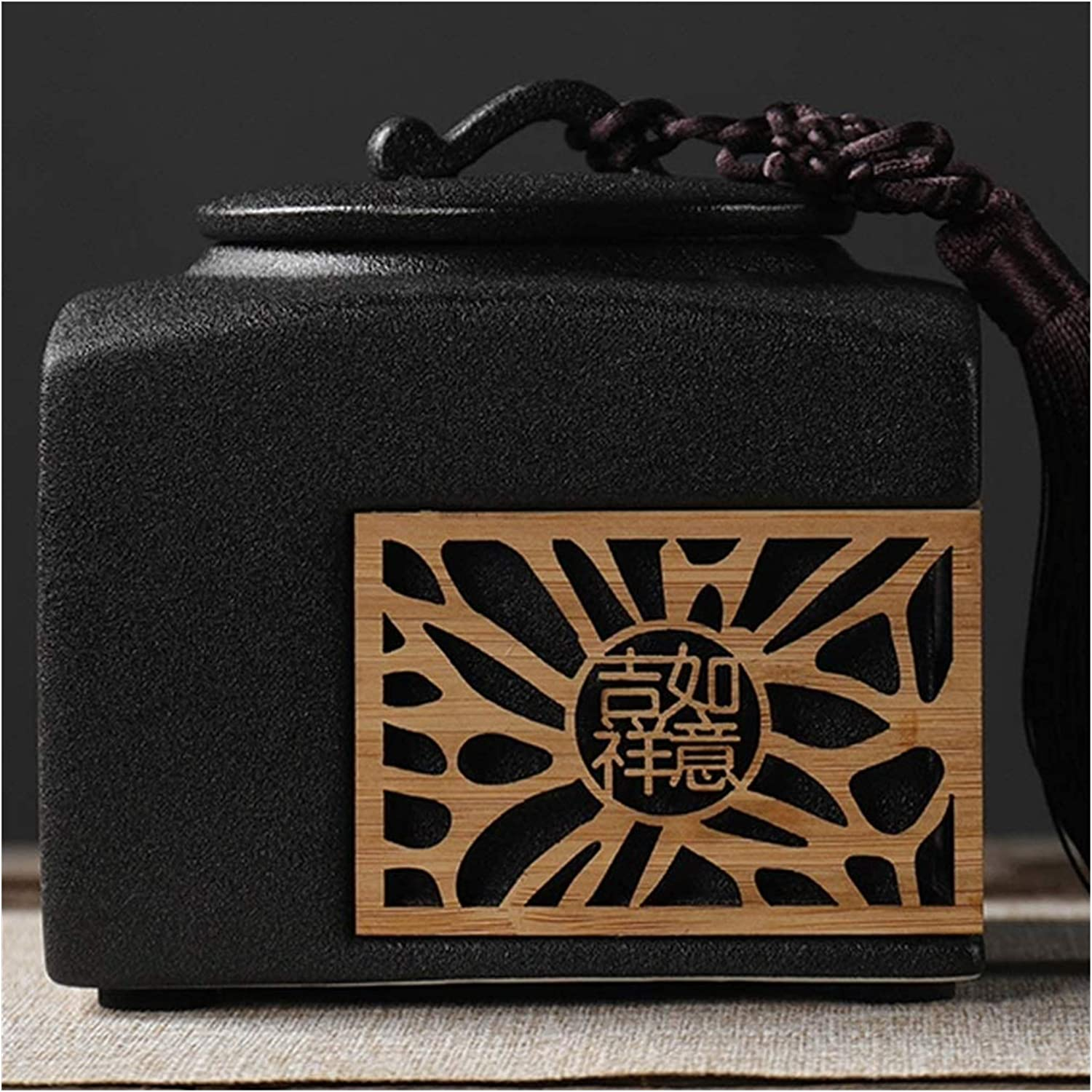 Ceramic Tea Jar Storage Jars Tins sale Cans Traditional SEAL limited product Canister