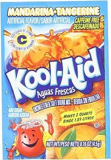 Kool-Aid Aguas Frescas Mandarina-Tangerine Unsweetened Soft Drink Mix, 0.16-Ounce Packets (Pack of 96)
