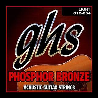 GHS Strings S325 Phosphor Bronze Acoustic Guitar Strings, Light (.012-.054)