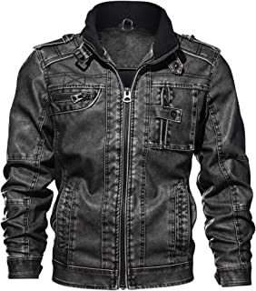 Otoño e invierno 3D nueva PU chaqueta de cuero motocicleta abrigo hombres