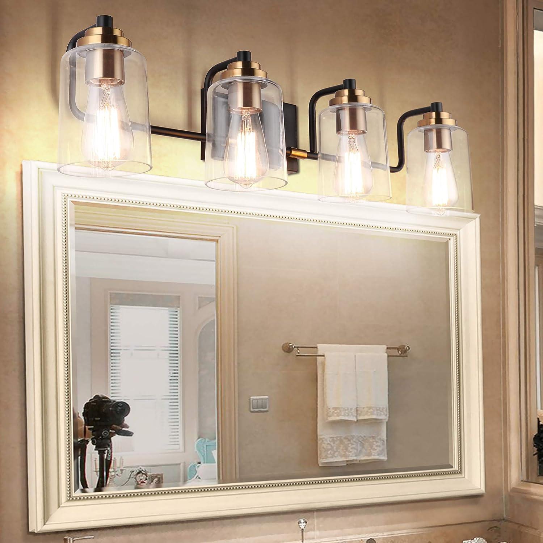 Buy Solfart Vintage Vanity Lights Wall Lighting Bath Bathroom Light Fixtures Over Mirror 4 Lights Exclude Bulb Online In Hungary B07vw95wbn