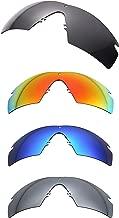 NicelyFit Polarized Replacement Lenses for Oakley Si Ballistic M Frame 2.0 Sunglasses (4 Pairs - Black Blue Red Titanium)